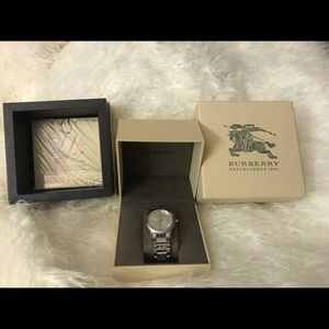 Silver Gray Burberry watch